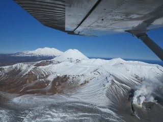 Mt Ruapehu Vista Flight over Tongariro National Park