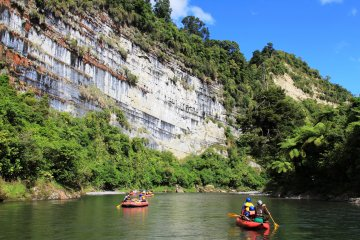 Scenic Rafting on the Rangitikei River North Island New Zealand